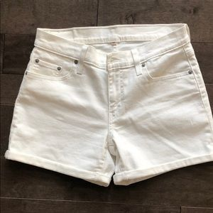 Levis White Denim Shorts